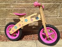 Kidzmotion Ooowee Pink Wooden Balance Bike