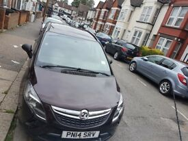 VAUXHALL ZAFIRA TOURER 2014 2.0 ENGINE 7 SEATERS AUTOMATIC DIESEL