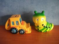 TWO CERAMIC MONEY BOXES