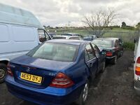 mercedes benz c e class breaking for parts