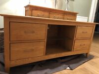 Laura Ashley Solid Oak TV Stand