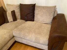 Corner sofa and swivel chair for sale, very good condition, £350 for both, collection only