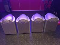 4 tannoy satellite speakers