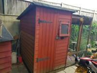 Shed with attached run