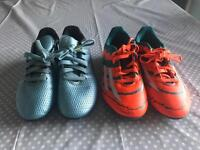 2 Pairs Adidas Messi Football Boots - Size 2