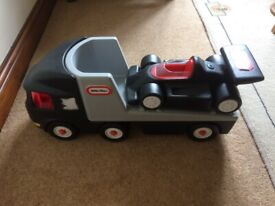 Lorry and Racing Car Set- A BARGAIN