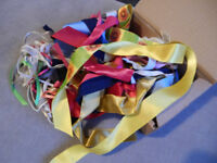 FREE - Small box of assorted ribbons - mostly short lengths - good for crafts