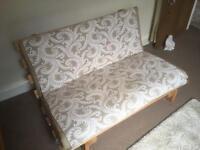 Solid pine Futon with beige matress