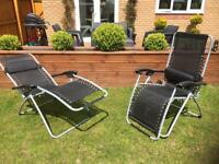 SOLD Pair of chair sun bed loungers
