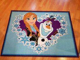 Disney Frozen Olaf and Anna rug