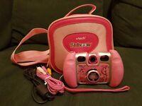 Vtech Kidizoom Twist Digital 2 Mega Pixel Camera and Vtech Kidizoom carry case in pink