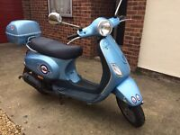 Vespa LX50 moped scooter with new 12 months mot