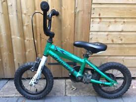 Specialized Hotrock Green Bike 12 inch wheels with stabilisers