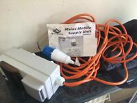 Mains mobile supply unit (electric hook up)