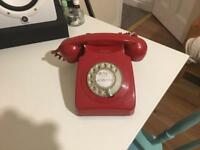 Original 1970s Red Retro Telephone