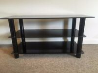 Black Tempered Glass TV Stand £20