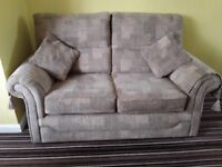 TWO X 2 half seater settees