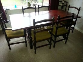 Mahogany dining table 6