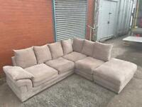 SOLD!! Harvey corner sofa & foot stool delivery 🚚 sofa suite couch furniture