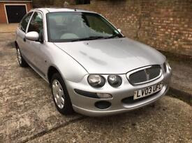 2003 Rover 25 1.6 Sliver 3 Door Hatchback