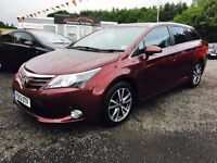 REDUCED! 2013 Toyota Avensis 12 Months Warranty, 2 Years FREE MOT and servicing, Only £50 per week!
