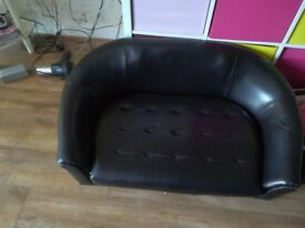 Dogs leather sofa bed
