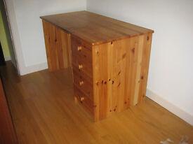 Wooden Desk 120cm (w) x 60cm (d) x 74cm (h).