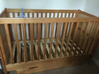 Mothercare Sanctuary Cot bed & under cot storage drawer