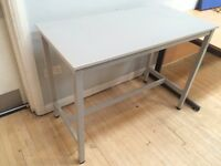 Heavy Duty Grey School Science Workbench With Metal Frame 120cm wide x 60cm d x 89cm t