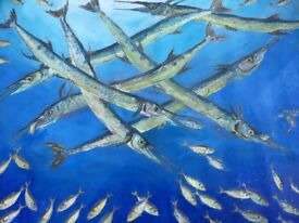 A selection of Fish Paintings