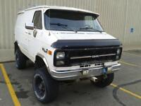 one of a kind factory conversion gmc 1 ton 4x4 van