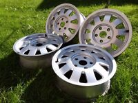 """Rare Genuine Audi 15"""" Forged Alloys 5x112 Seat Skoda Volkswagen *UK WIDE POSTAGE AVAILABLE*"""