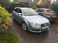 Audi A4 S Line avant 3 ltr TDI Quattro, 2 owners, very low mileage