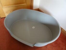 Large Plastic Dog Basket Grey 76cm