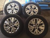 "Transporter T5 16"" genuine alloy wheels."