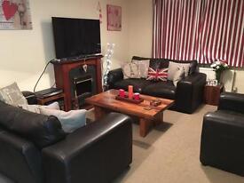 Leather 4 piece suite