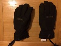 Black winter gloves Dakine, new and discounted