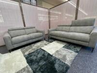 Volante Berlin 3 plus 2 seater Nubuck fabric sofa set