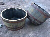 Oak half barrels