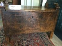 Vintage carved solid wood Indian chest or trunk with lots of internal storage.
