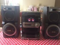 Sony Stereo for sale with large D,S,W, speakers