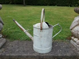 Antique Vintage very large watering can heavy duty
