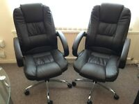 Real Leather Office Chair new one time used for sale