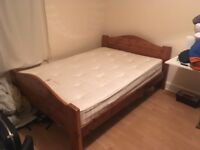 Double Bed (Pine) & Mattress