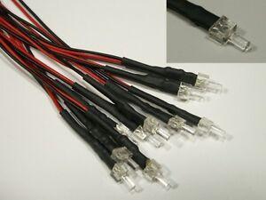 S602-10-pc-LED-2mm-blanco-con-cable-para-12-19v-PREPARADO-V-Torre-de-LED