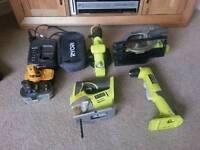 Ryobi One Plus set of 18 volt power tools