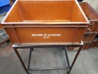 50 x Euro Stacking Boxes Heavy Duty - Orange