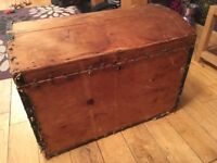 Vintage solid pine trunk/chest