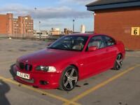 BMW e46 325ci M Sport Coupe Automatic Imola Red Cream Beige Leather DVD Sat Nav Bluetooth