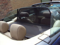 Saab 9-3 convertible wind deflector with zip up storage bag fits 1998-2003 models
